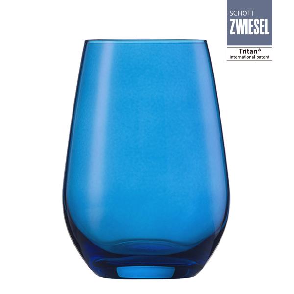 118212 Vaso Viña Spots Agua sin tallo Azul 385 ml