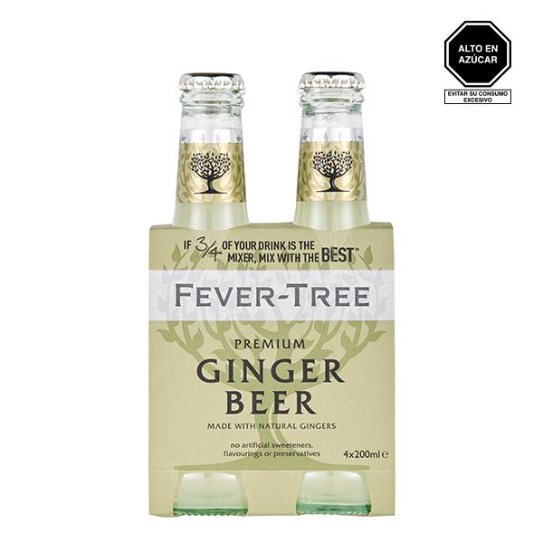 Fever tree ginger beer four pack 1