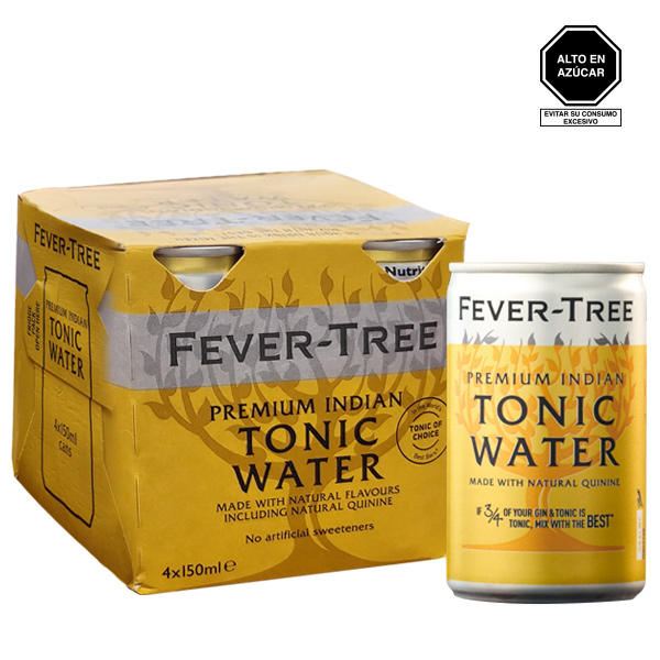 Fever tree premium indian tonic lata 150 ml four pack