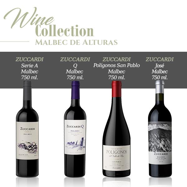 Wine collection malbec de alturas