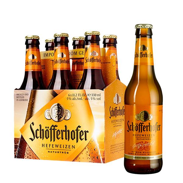 schofferhofer sin filtrar 330 ml six pack