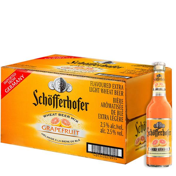 Schofferhofer Toronja 330 ml caja de 24 botellas