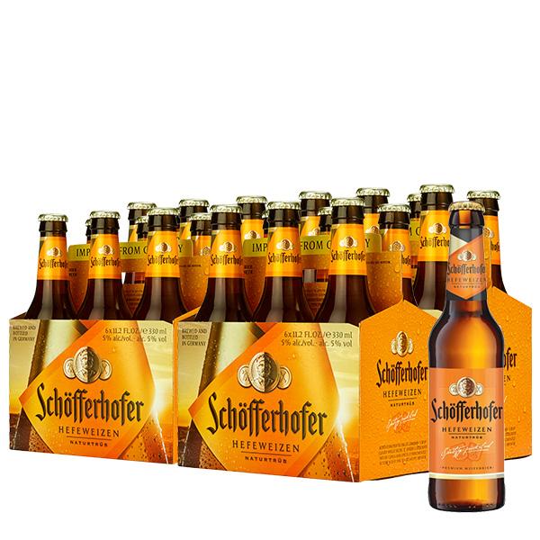 schofferhofer sin filtrar 330 ml x 24 botellas