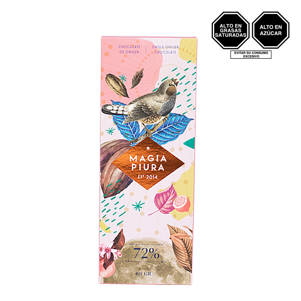 Barra de chocolate magia piura 72 1