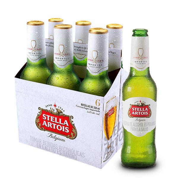 Stella Artois six pack