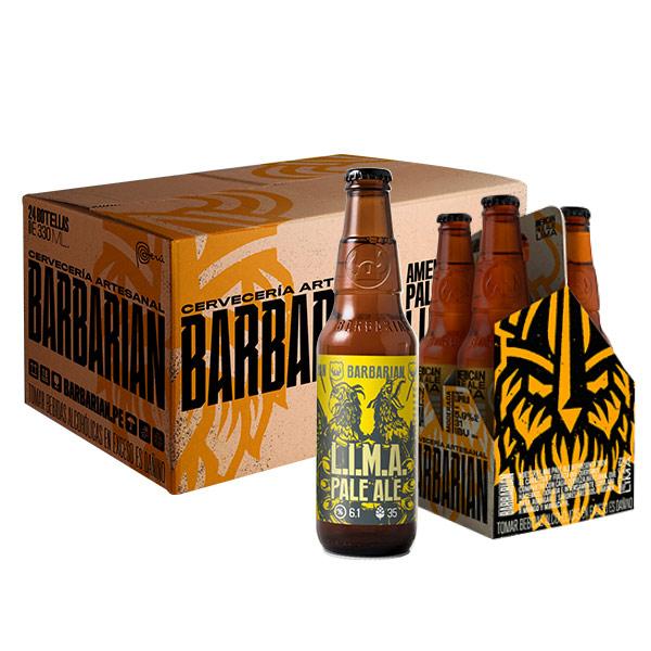 24 botellas Barbarian lima
