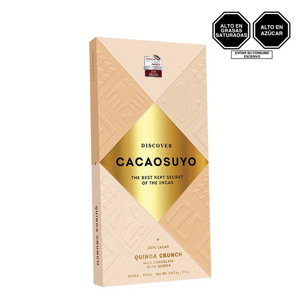 Cacaosuyo Quinoa Crunch 40 Cacao 70 gr
