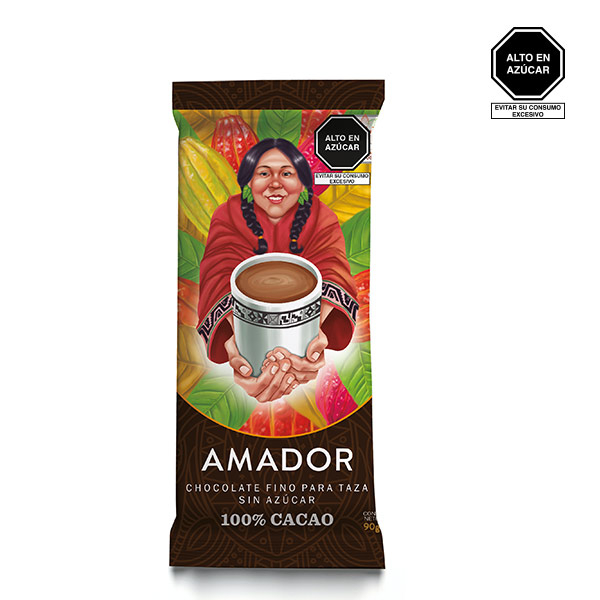 Chocolate amador 100 cacao 90 gr