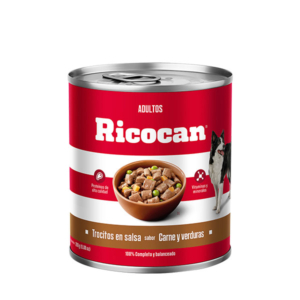Ricocan Carne y Verduras Adulto trocitos lata 9.87 oz