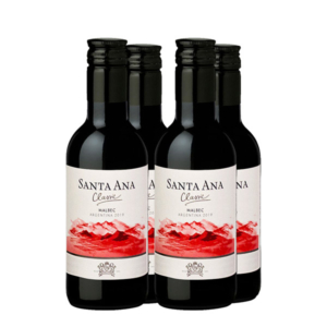 Santa ana malbec 187 ml x 4 botellas
