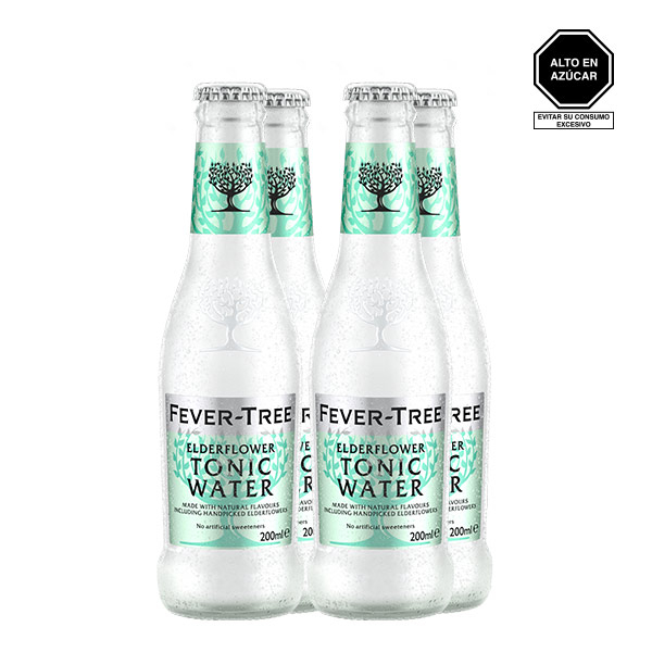 Fever Tree Elder Flower Tonic Water x4 200 ml