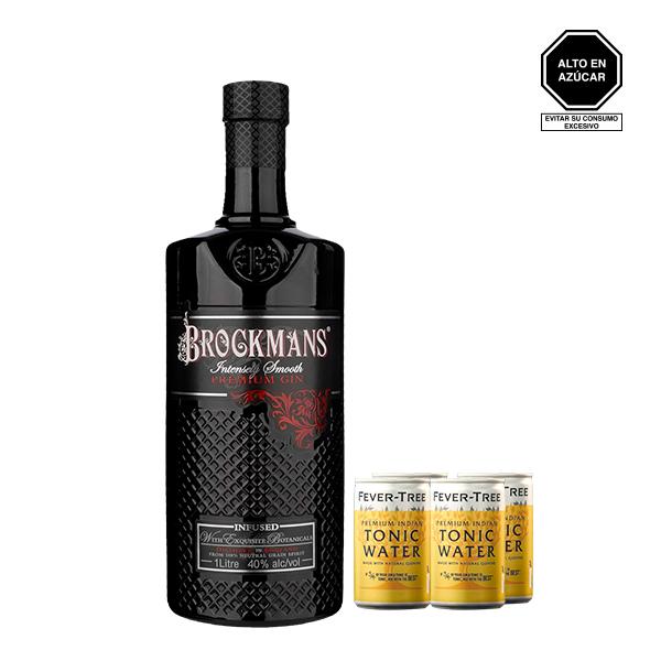 brockmans 1 litro y fever tree