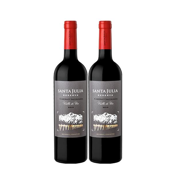 santa julia reserva cabernet sauv x 2 botellas