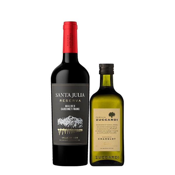 Santa julia reserva malbec cabernet y aceite changlot