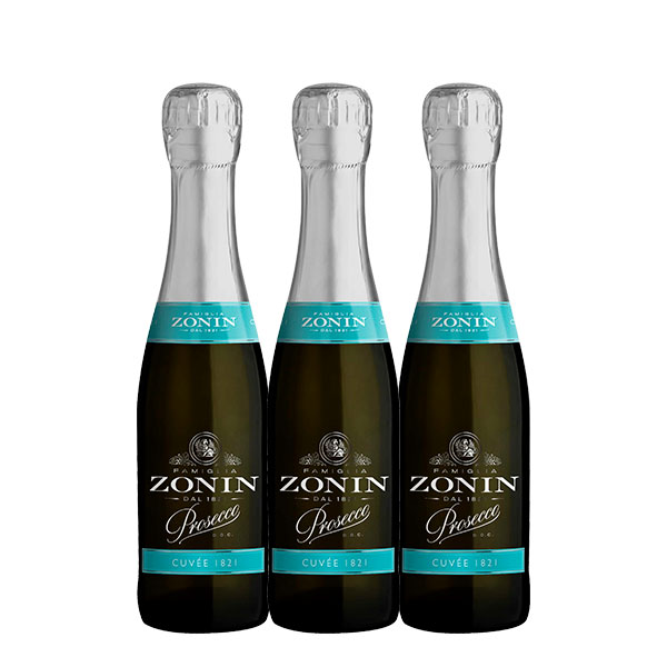 3 botellas Prosecco Zonin 187 ml