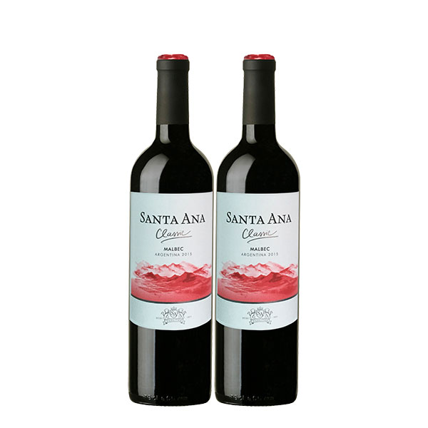 santa ana malbec 750 ml x 2 botellas