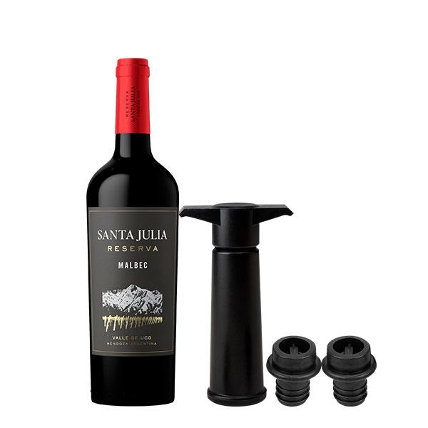 santa julia malbec reserva y wine pump