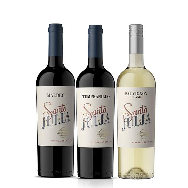 Pack Santa Julia Malbec Tempranillo Sauvignon Blanc