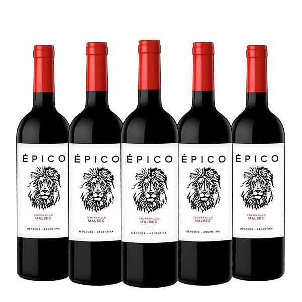 epico tempranillo x 5 botellas