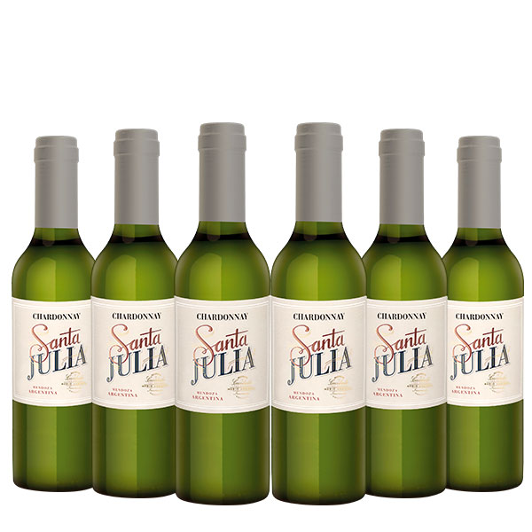 santa julia chardonnay 375 ml x 6 botellas