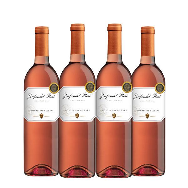 Morgan Bay Cellars Zinfandel Rosé 750 ml x 4 botellas