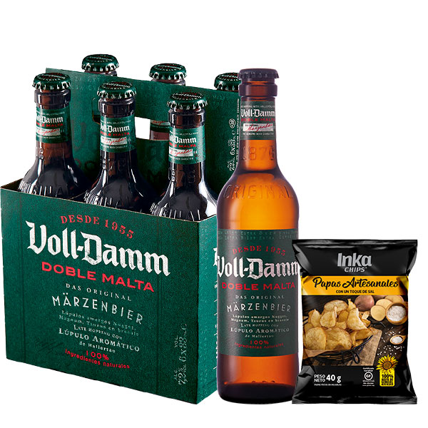 Voll Damm Six Pack 330 ml inka chips