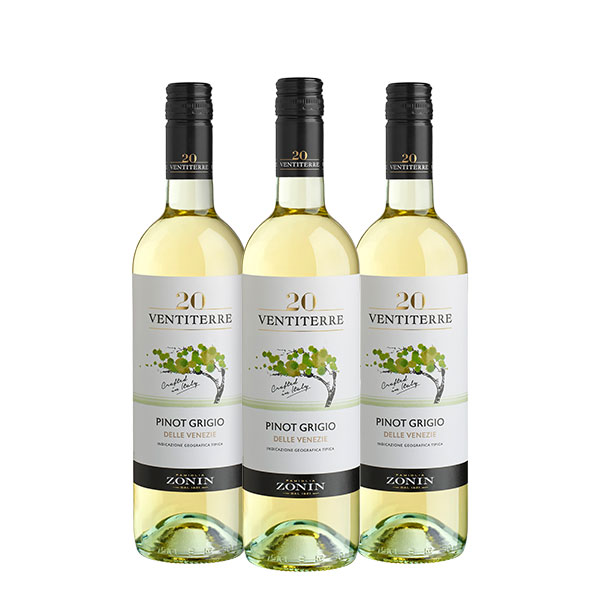 Zonin Pinot Grigio Ventiterre 750 ml x 3 botellas