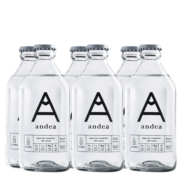 andea sin gas 330 ml x 6 botellas
