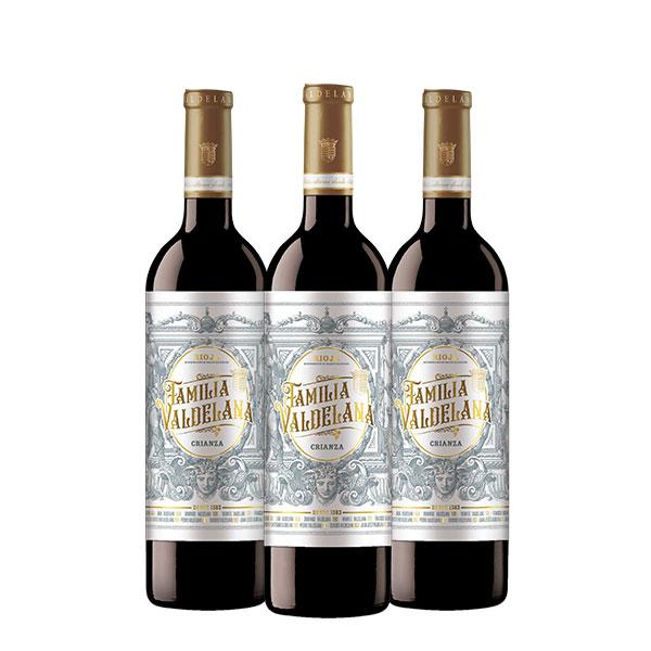 Familia Valdelana Crianza x 3 botellas