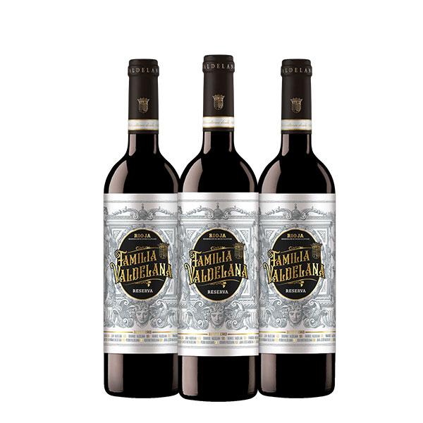 Familia Valdelana Reserva x 3 botellas