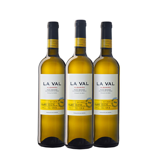 LA VAL Albariño 750 ml x 3 botellas