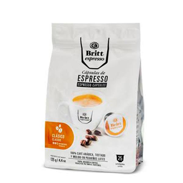 Britt Espresso Clásico 25 cápsulas