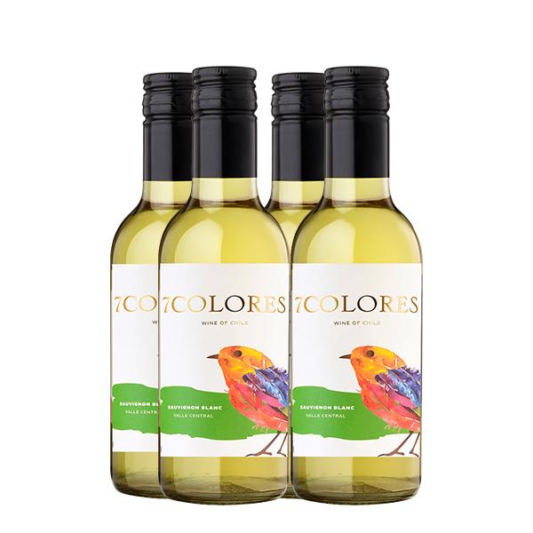 Siete Colores Sauvignon Blanc 187 ml x 4 botellas
