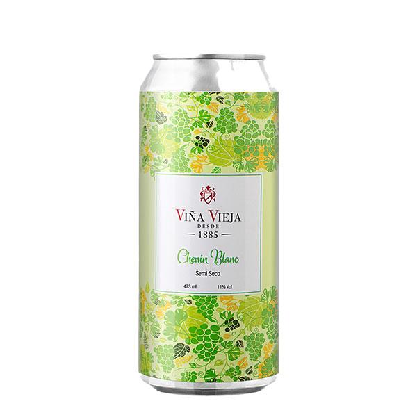Vino Viña Vieja Chenin Blanc Semi Seco lata 473 ml