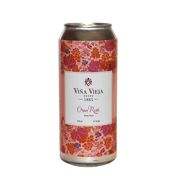 Vino Viña Vieja Gran Rose Semi Seco lata 473 ml