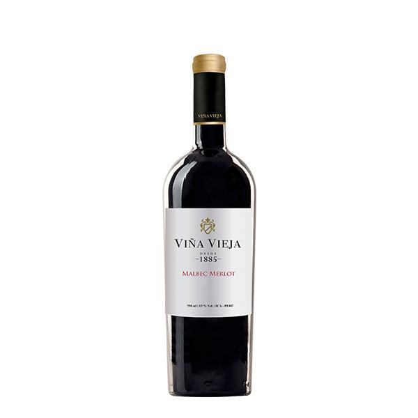 Vino Viña Vieja Malbec Merlot Seco 750 ml