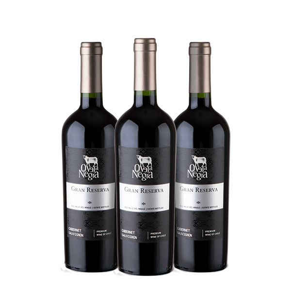 Oveja Negra Gran Reserva Cabernet Sauvignon 750 ml x 3 botellas