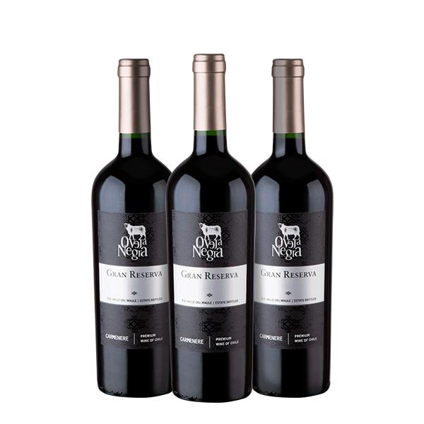 Oveja Negra Gran Reserva Carmenere 750 ml x 3 botellas