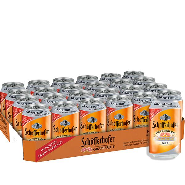 Schofferhofer toronja caja 24 latas 330 ml