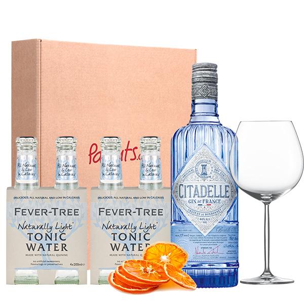 Cocktail box citadelle copa fever tree light naranja