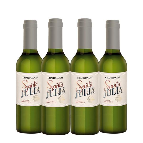 Santa julia chardonnay 375 ml x 4 botellas