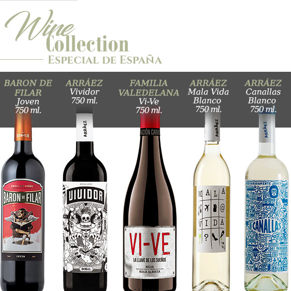 wine collection especial de espana