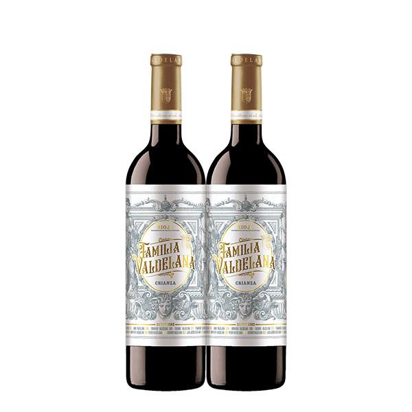 Familia Valdelana Crianza 750 ml x 2 botellas