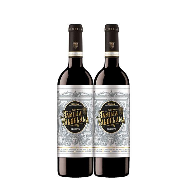 Familia Valdelana Reserva 750 ml x 2 botellas