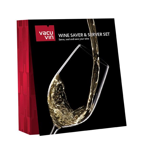 Vacuvin Conservador y servidor de vino original gift set