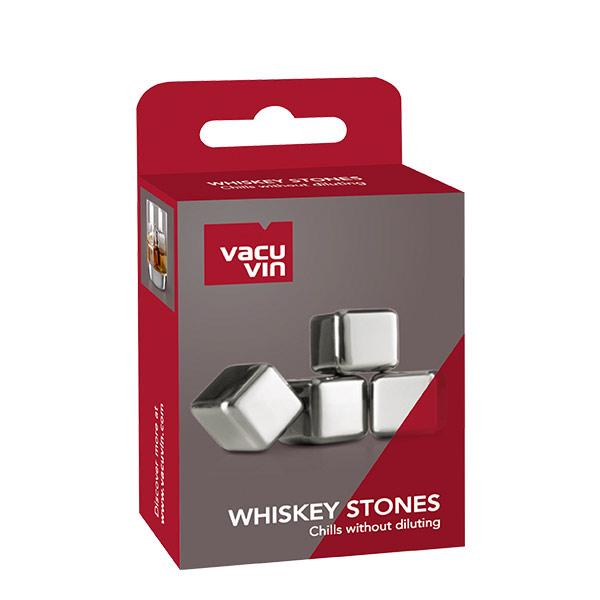 Vacuvin Cubos de hielo metalicos set x 4 para whisky