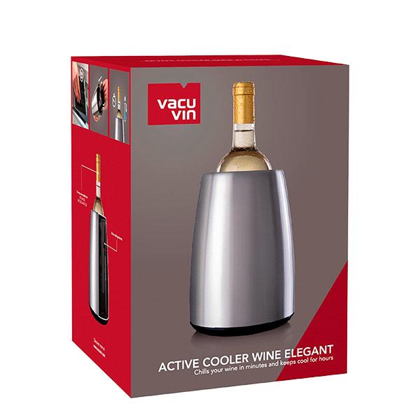 Vacuvin base cubitera active cooler wine elegant acero
