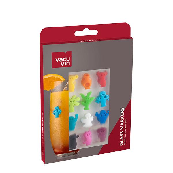 Vacuvin marcadores de vasos y copas modelo party people set x 8